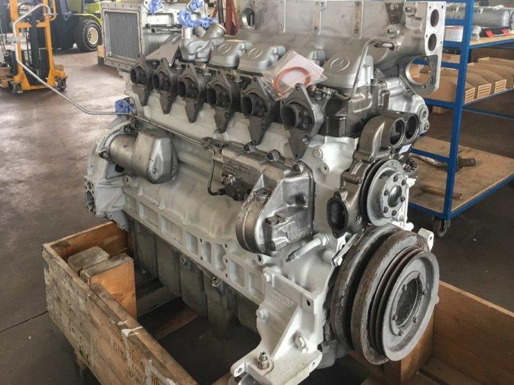 Motore MTU prima della verniciatura